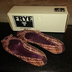 Frye Malorie Woven Peep Toe Flats